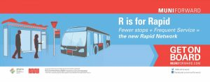Muni R is for Rapid graphic