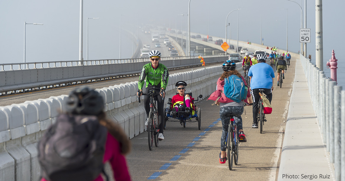 Bay bridge bike lane